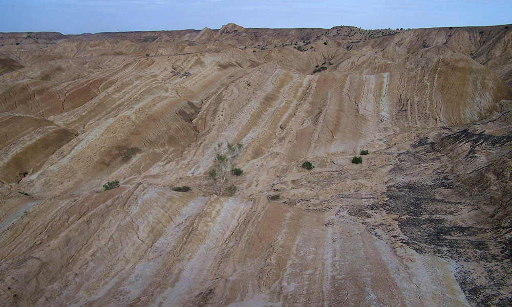 Stratification in Tibet sediment