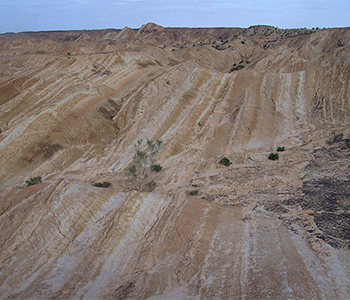 Stratification in Tibet sediment