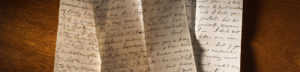 susan b. anthony letters on table