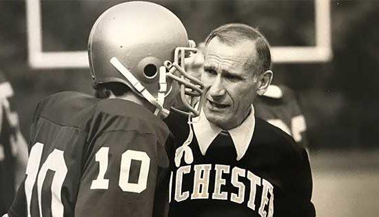 Coach Pat Stark with Jeff Wittig '86